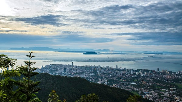 Popular tourist site Viewing Deck in Penang