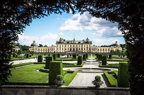 Popular tourist site Drottningholm Palace in Stockholm