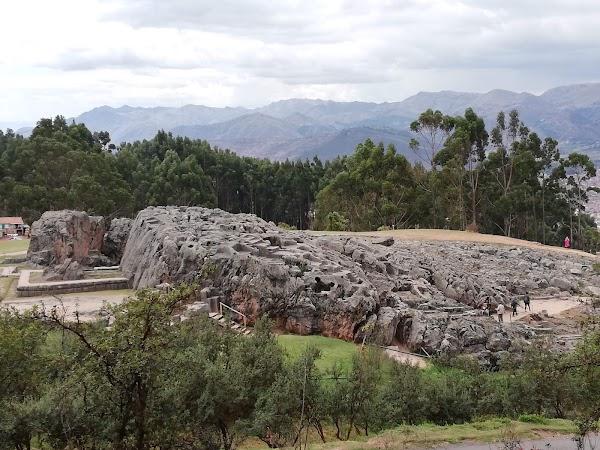Popular tourist site Q'enco Archaeological Complex in Cusco