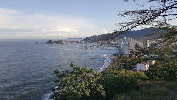 Popular tourist site San Fernando in Santa Marta