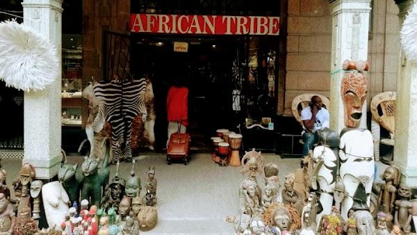 Popular tourist site Greenmarket Square in Cape Town