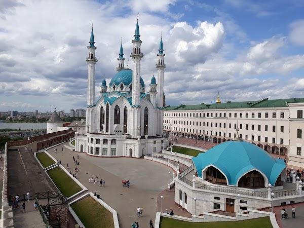 Popular tourist site Kazan Kremlin in Kazan
