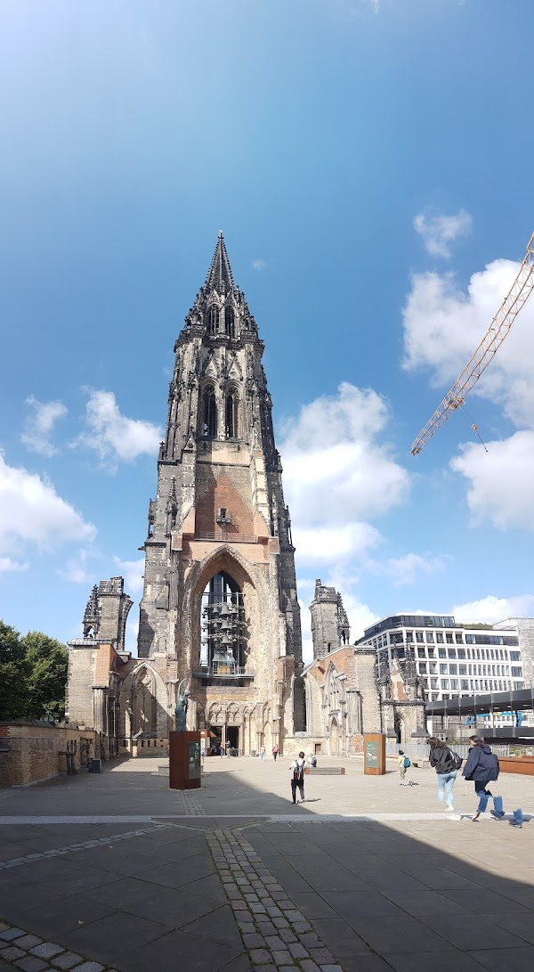 Popular tourist site St. Nikolai Memorial in Hamburg