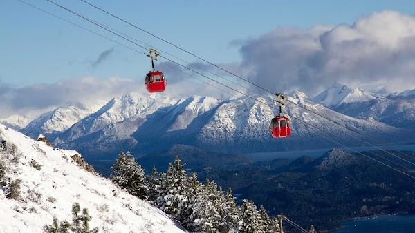 Popular tourist site Cerro Otto Cable Car in Bariloche