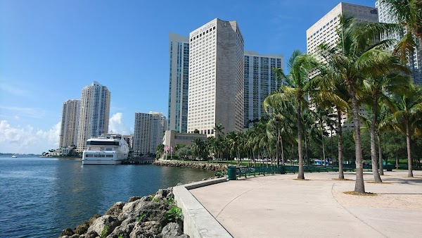 Popular tourist site Bayfront Park in Miami