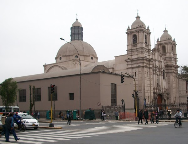 Popular tourist site Iglesia Las Nazarenas in Lima
