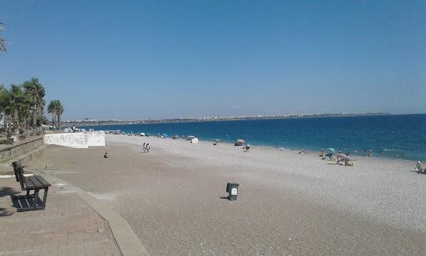 Popular tourist site Konyaaltı Sahili in Antalya