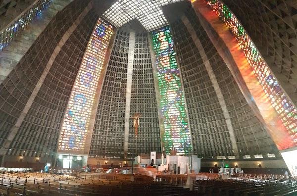 Popular tourist site Catedral Metropolitana de São Sebastião  in Rio de Janeiro