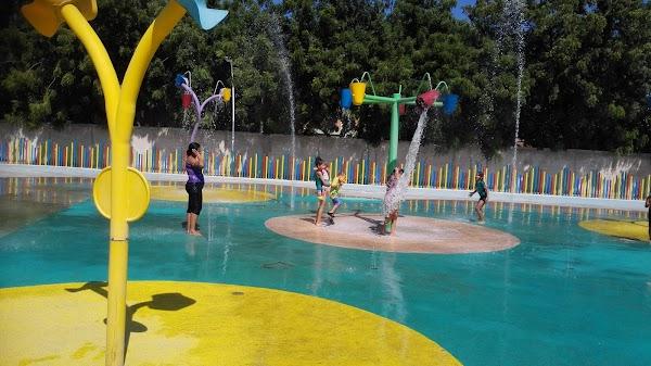 Popular tourist site Parque del Agua in Santa Marta