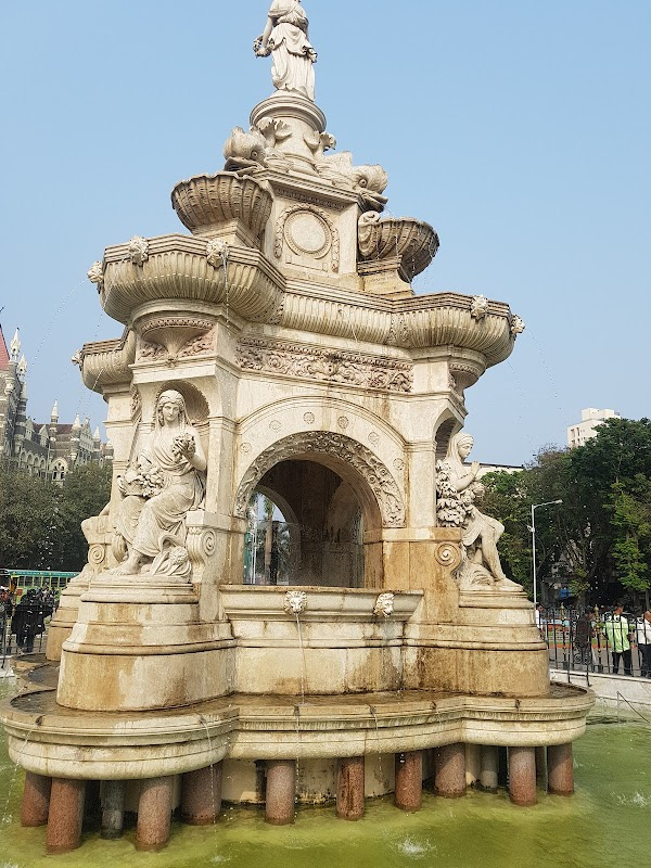 Popular tourist site Flora Fountain in Mumbai