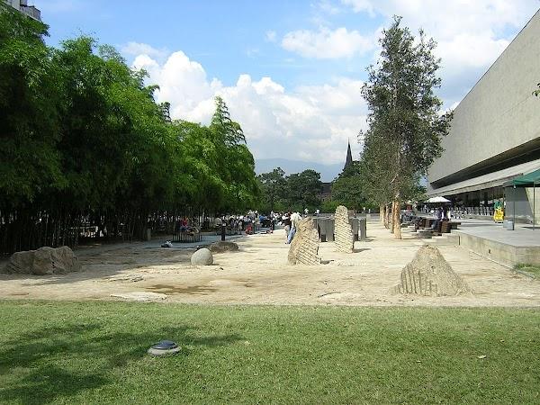 Popular tourist site Parque Pies Descalzos in Medellin