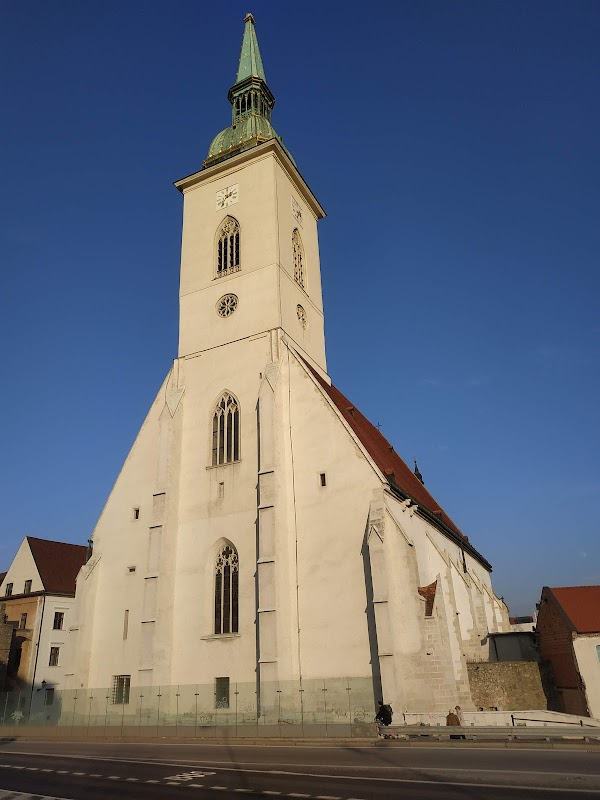 Popular tourist site St. Martin's Cathedral in Bratislava