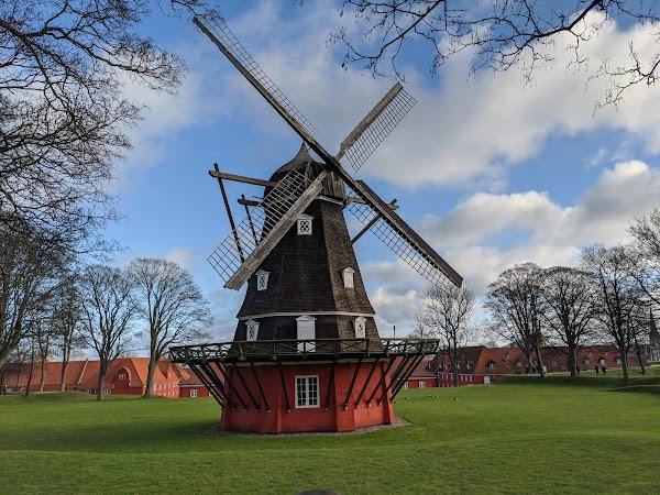 Popular tourist site Kastellet in Copenhagen