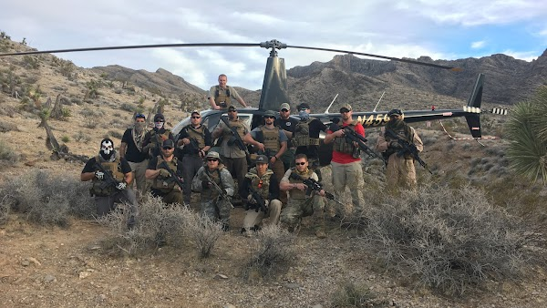 Popular tourist site Gunship Helicopters in Las Vegas