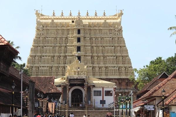 Popular tourist site Sree Padmanabhaswamy Temple in Trivandrum