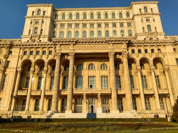 Popular tourist site Palace of Parliament in Bucharest