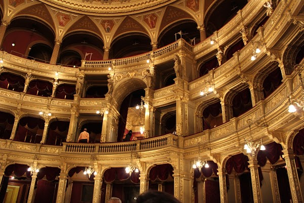 Popular tourist site Hungarian State Opera in Budapest