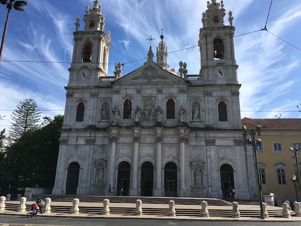 Popular tourist site Basílica da Estrela in Lisbon