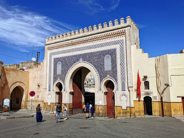 Popular tourist site Blue Gate in Fez