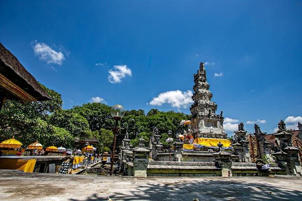 Popular tourist site Pura Agung Jagatnatha in Denpasar City