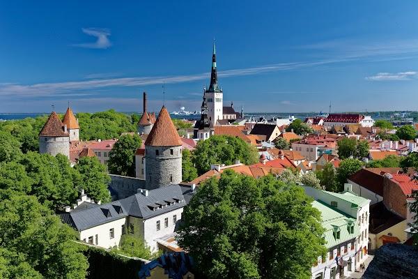 Popular tourist site Patkuli viewing platform in Tallinn