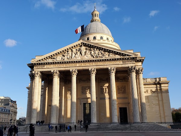 Popular tourist site Panthéon in Paris