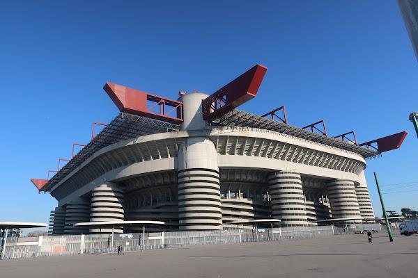 Popular tourist site San Siro Stadium in Milano