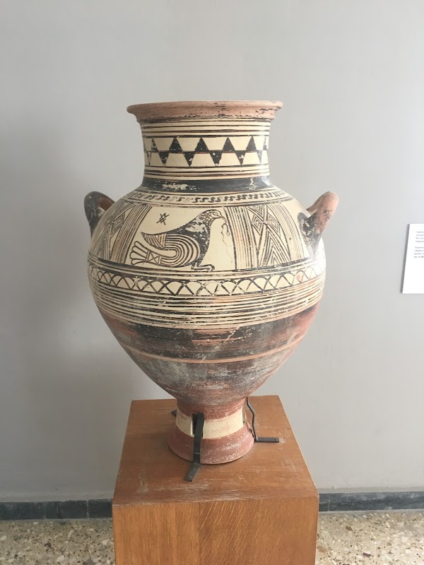 Popular tourist site Archaeological Museum of Thera in Santorini