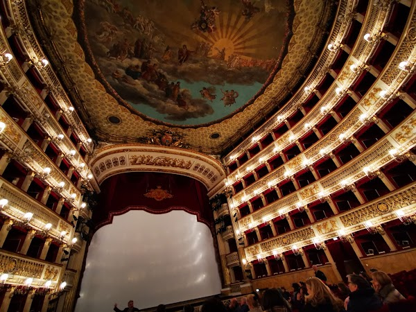 Popular tourist site San Carlo Theatre in Naples
