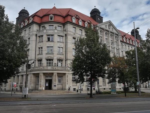 """Popular tourist site Gedenkstätte Museum in der """"Runden Ecke"""" in Leipzig"""