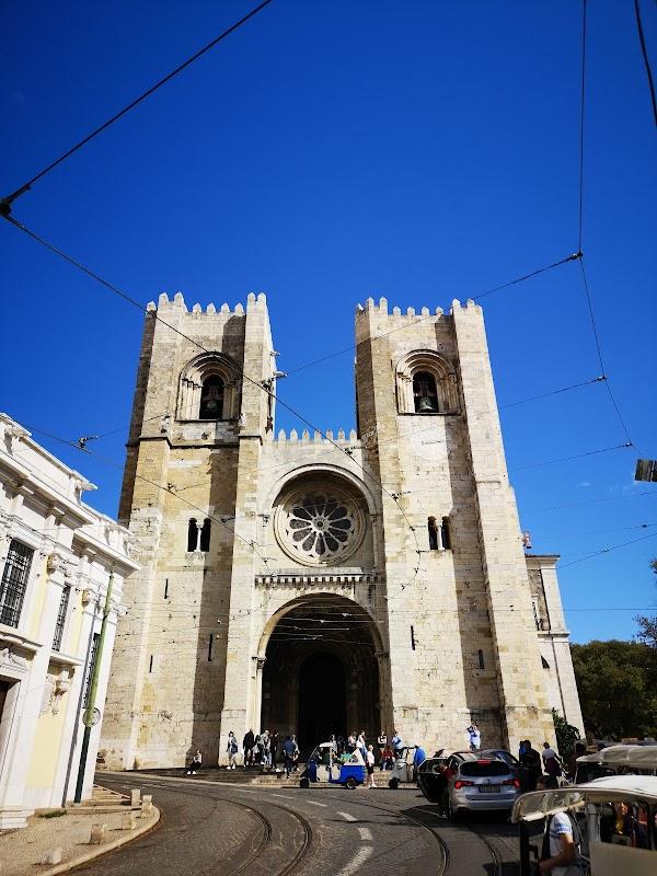 Popular tourist site Lisbon Cathedral in Lisbon