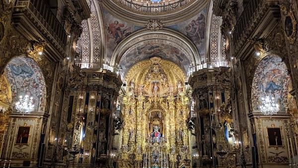 Popular tourist site Basilica of San Juan de Dios in Granada