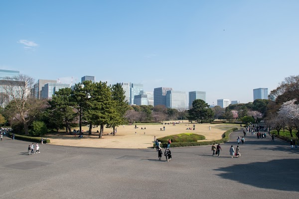 Popular tourist site The East Gardens of the Imperial Palace in Tokyo