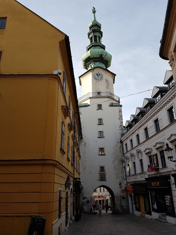 Popular tourist site Michael's Gate in Bratislava