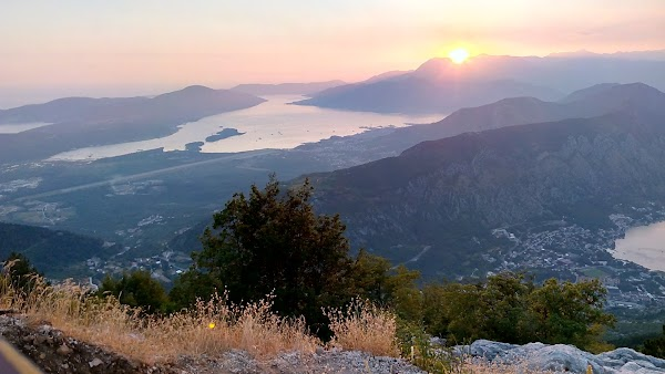 Popular tourist site Kotor Serpentine in Kotor