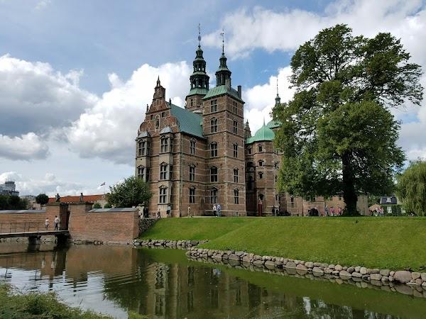 Popular tourist site Rosenborg Castle in Copenhagen
