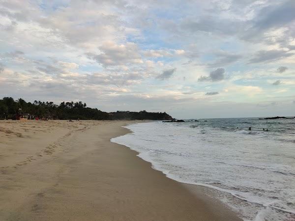 Popular tourist site Playa Bacocho in Puerto Escondido