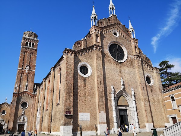 Popular tourist site Basilica dei Frari in Venice
