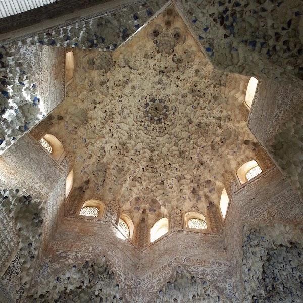 Popular tourist site Hall of Abencerrajes in Granada