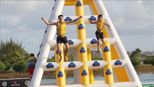 Popular tourist site Bali Wake Park in Denpasar City