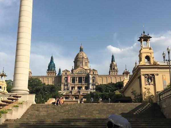 Popular tourist site Museu Nacional d'Art de Catalunya in Barcelona