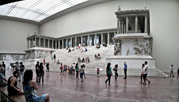 Popular tourist site Pergamonmuseum in Berlin