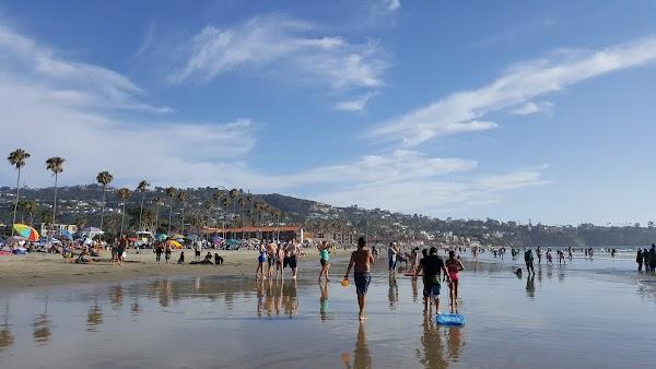 Popular tourist site La Jolla Shores Park in San Diego
