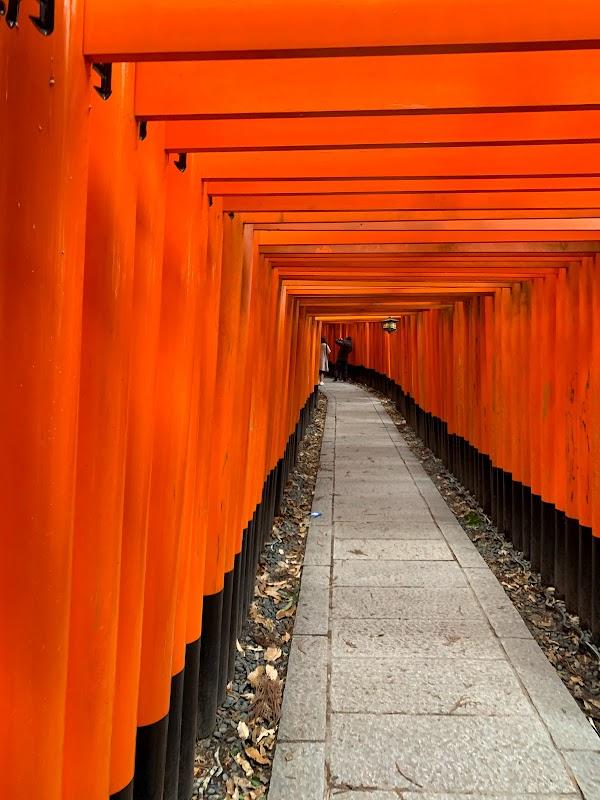 Popular tourist site Fushimi Inari Taisha in Kyoto
