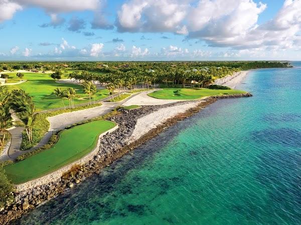Popular tourist site La Cana Golf Club in Punta Cana
