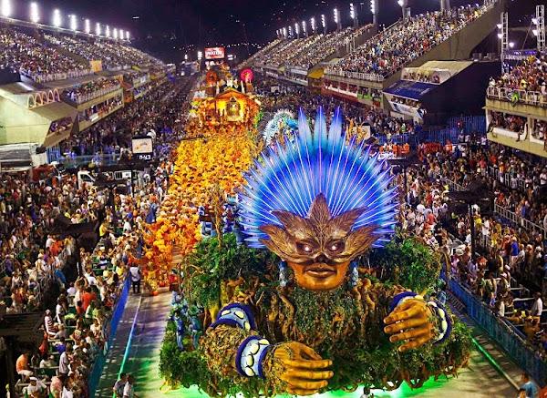 Popular tourist site Sambadrome Marquês de Sapucaí in Rio de Janeiro