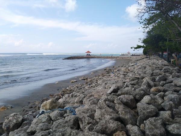 Popular tourist site Pantai Sanur in Denpasar City