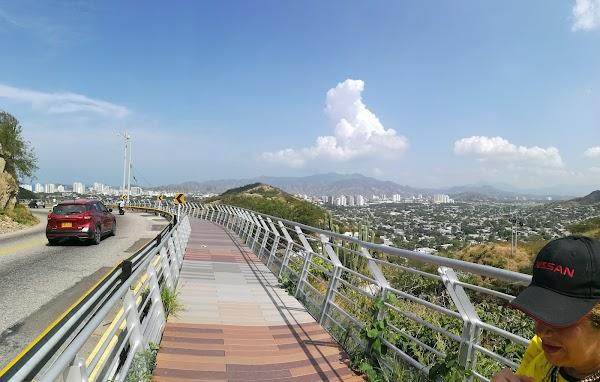 Popular tourist site Cerro Ziruma in Santa Marta