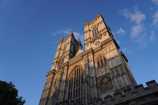 Popular tourist site Westminster Abbey in London