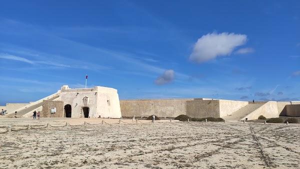 Popular tourist site Sagres Fortress in Algarve